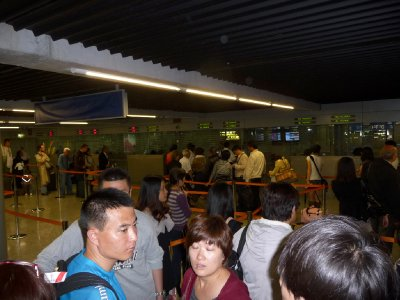 Immigration queues CDG airport Paris