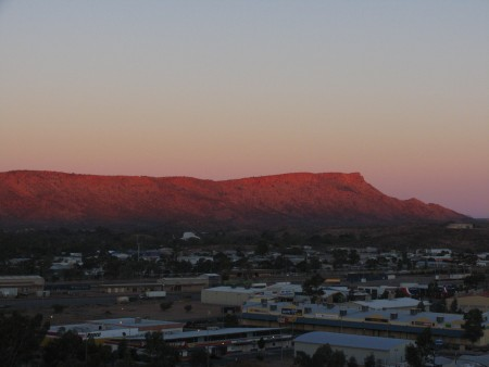alice springs at dawn