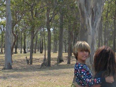 Lisa and Sam and Kangaroos