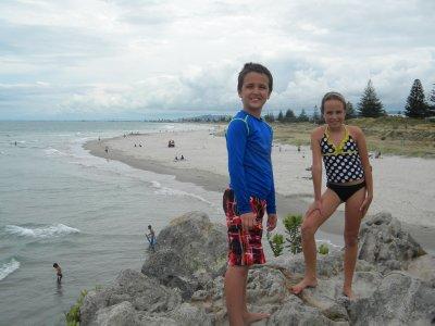 Max and Sara on Main Beach