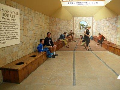 Roman Toilets at Puzzle World