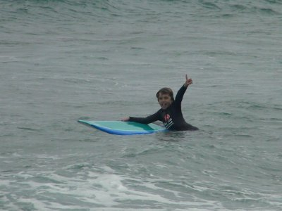 Sam Surfs New Zealand