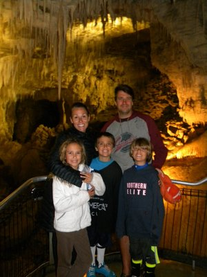 The Butz Family Explores the Caves