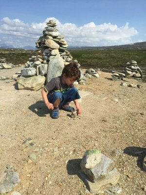 Building his own cairn