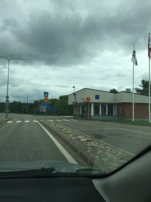 Missed the border, but here's Finnish Customs....