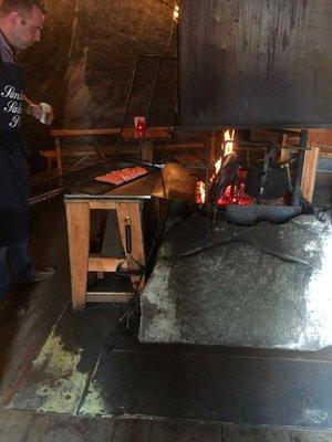 Fire seared salmon