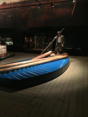 Floating logs