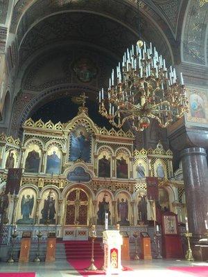 Inside the Uspenski Cathedral
