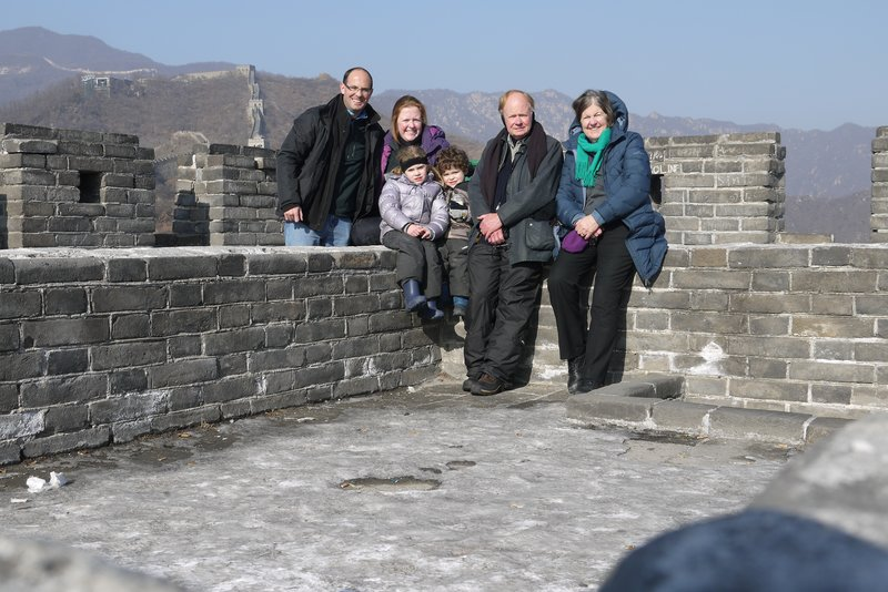 Family photo on Great Wall