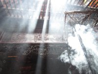 Gorgeous light shafts in the Jade Emperor Pagoda