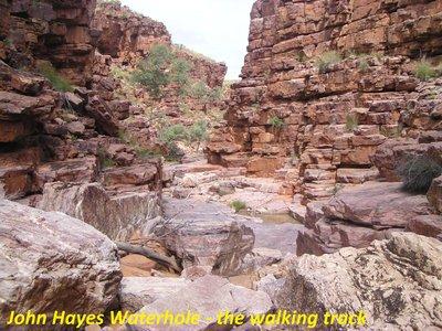 John Hayes Waterhole - the walking track
