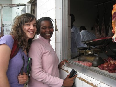 Selfa and I at the local market in Arusha.