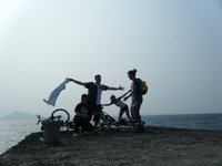 We rented a bicycle for 5 000 won and explored the island.