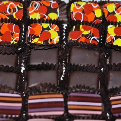 Qantas first class - chocolates