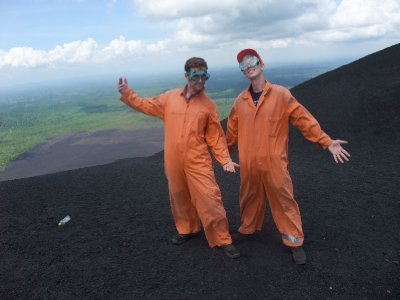 Kitted Out for Volcano Boarding