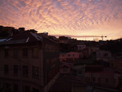 Sunset over Valparaiso