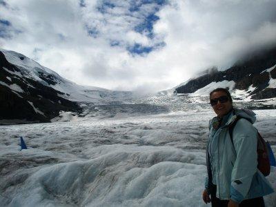 Står på Athabasca Glacier, Columbia Icefield