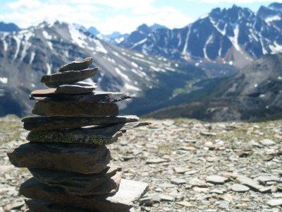 Vores mærke på Mount Whistlers, Jasper National Park