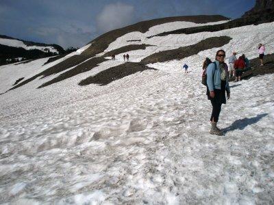 Er det vinter?, Trail til Hidden Lake, Glacier National Park
