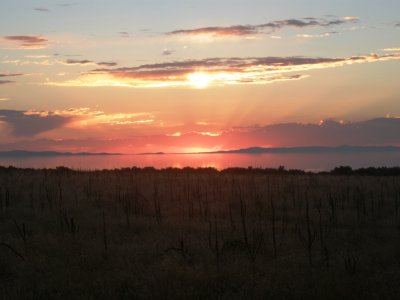 Solnedgang, Antelope Island, Utah