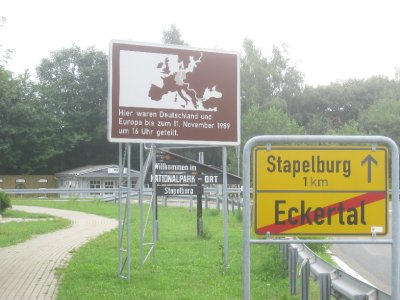 At the East German border