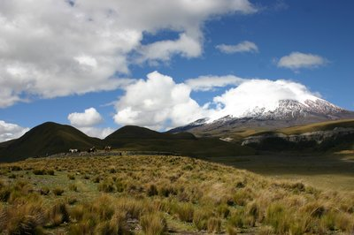 Mt Cotapaxi and Pre-Inca Fort