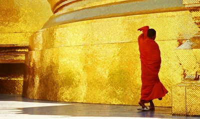 Buddhist monk by Royal Temple in Bkk