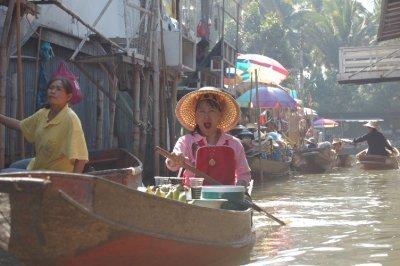 Floating market outside Bkk