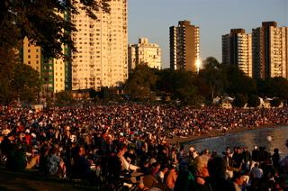 English Bay for Fireworks