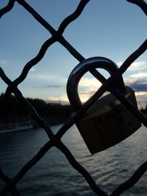 Lover's Lock on Pont des Arts