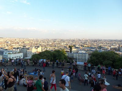 View of Paris from Butte Montmartre