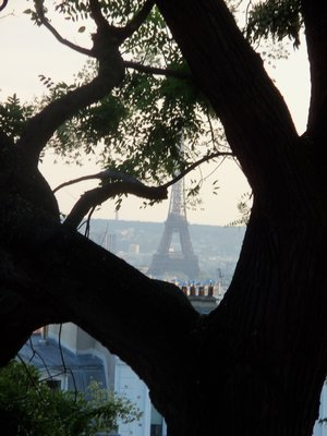 Eiffel Tower from Montmartre