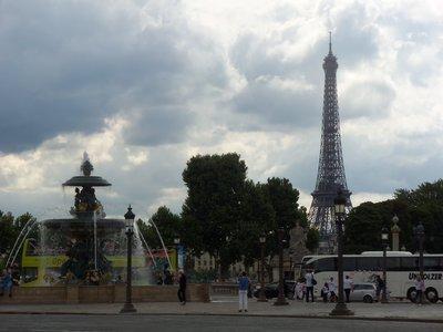 Tour Eiffel de la Place de la Concorde