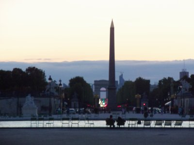 From the Jardin des Tuileries: Place de la Concorde, Arc de Triomphe