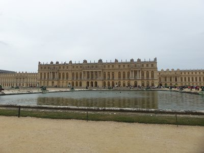 The back of the Chateau de Versailles