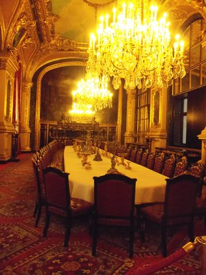 Napoleon III's dining room at the Louvre