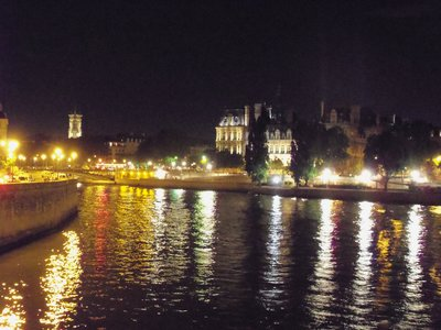 Lights of Paris reflecting in the Seine