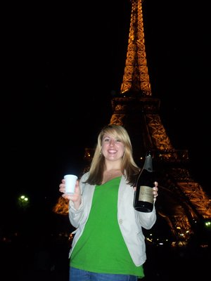 Champagne from Joey at the Eiffel Tower