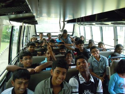 On the bus to Thenmala