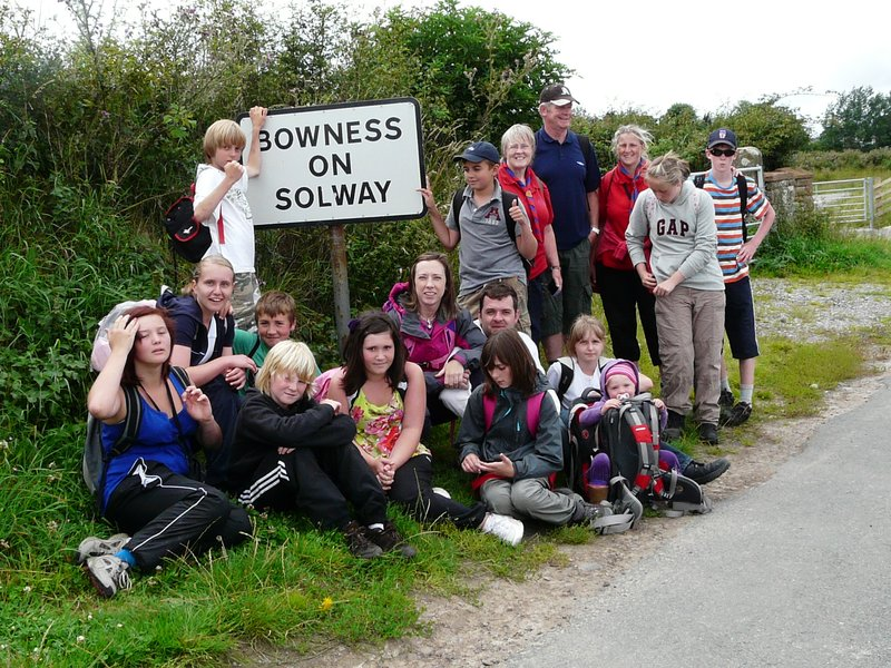Arriving in Bowness in Solway