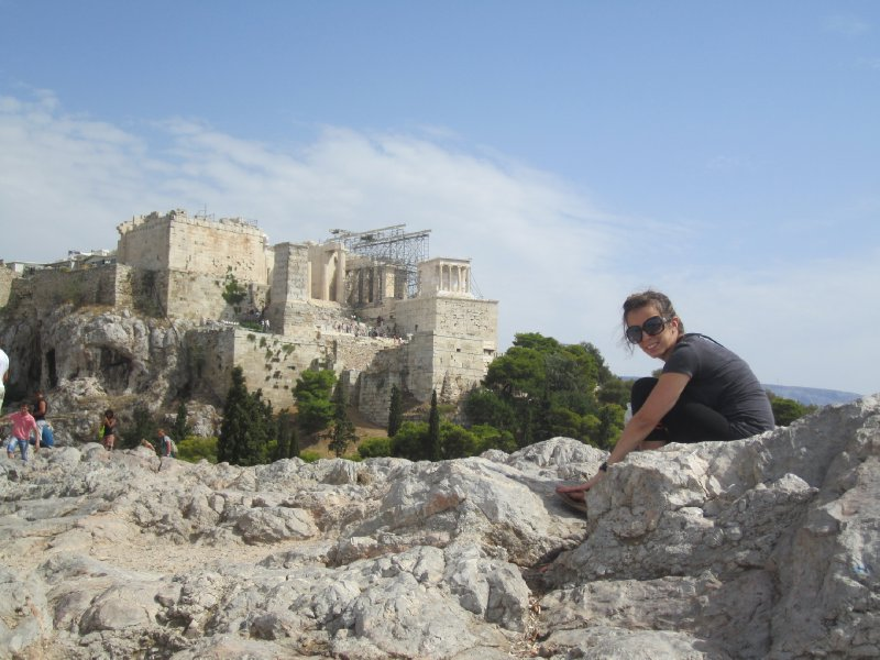 View of the Acropolis from the Areopagos