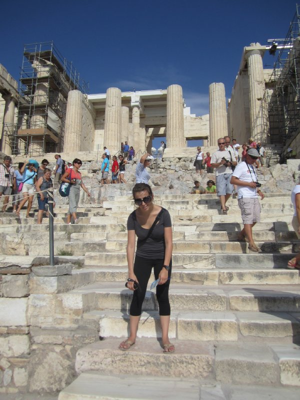 Made it to the Propylaia, entrance to the Acropolis