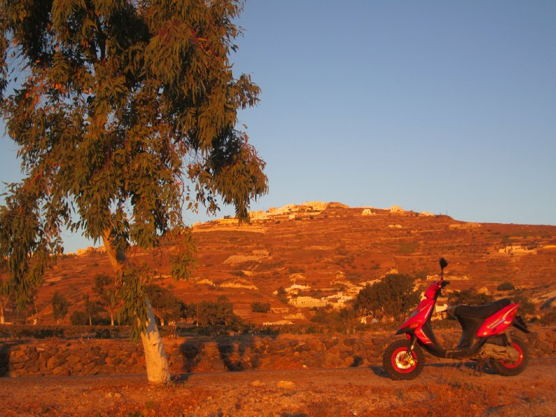 Our Motorbike at Sunrise!