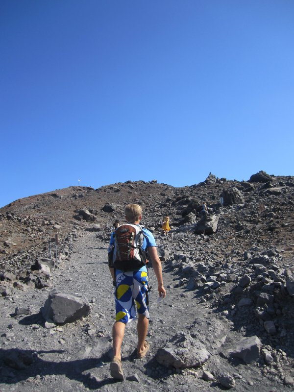 Andrew hiking up the volcano!