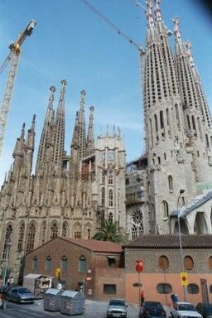 La Sagrida Familia Cathedral en Barcelona