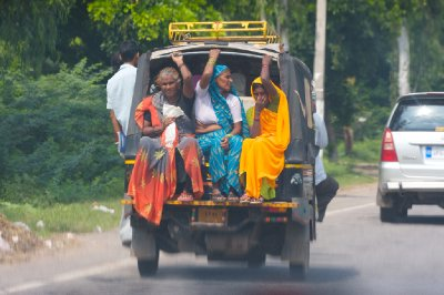 Full auto-rickshaw...