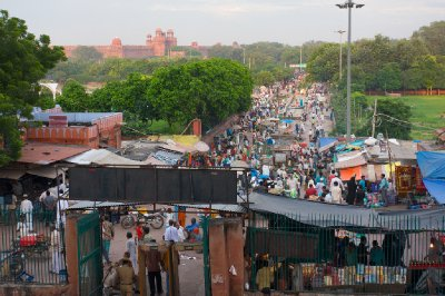 Bazaar and Red Fort