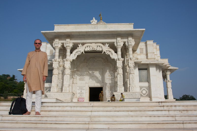 Me in front of Laxmi Narayan Temple, Jaipur, India