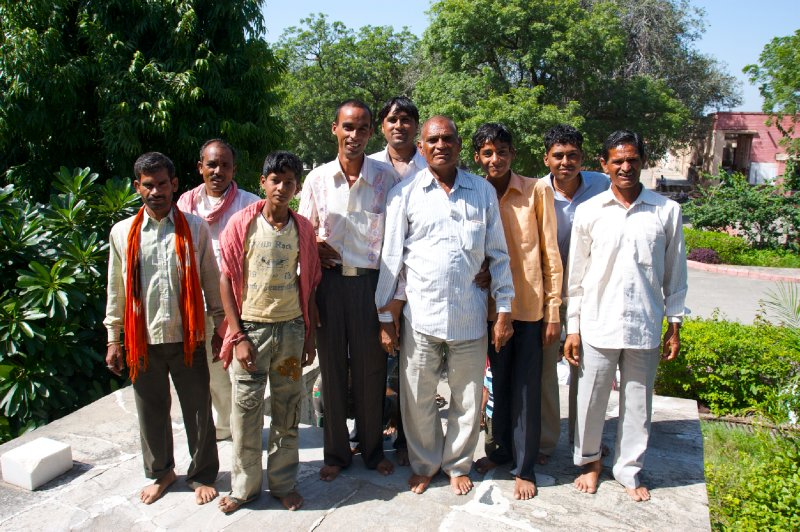 Men in Ranakpur wanting their picture taken