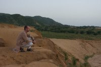 "Me in the ""desert"" near Pushkar"